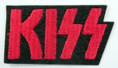 Kiss - 'Red Logo' Embroidered Patch